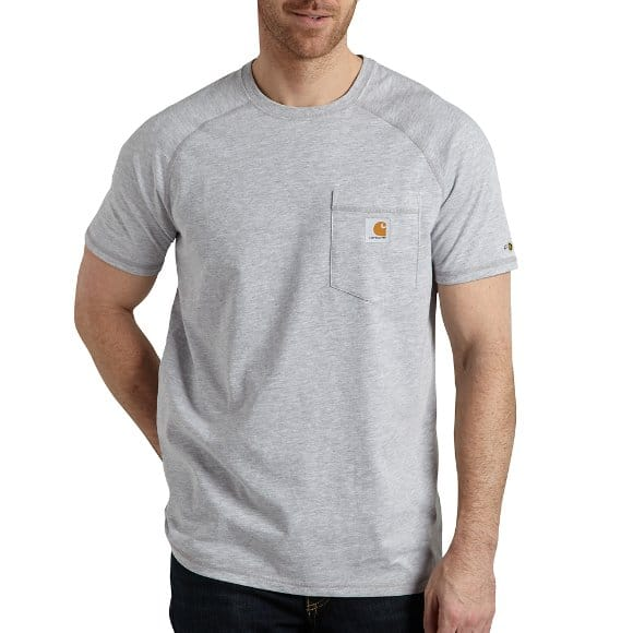 82bd82835e Carhartt Men′s HEATHER GREY FORCE® COTTON DELMONT SHORT-SLEEVE T-SHIRT
