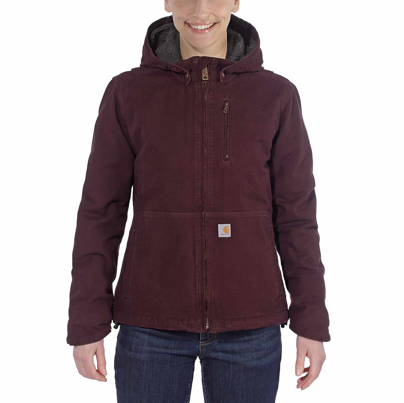 Picture of FULL SWING® LOOSE FIT WASHED DUCK SHERPA-LINED JACKET