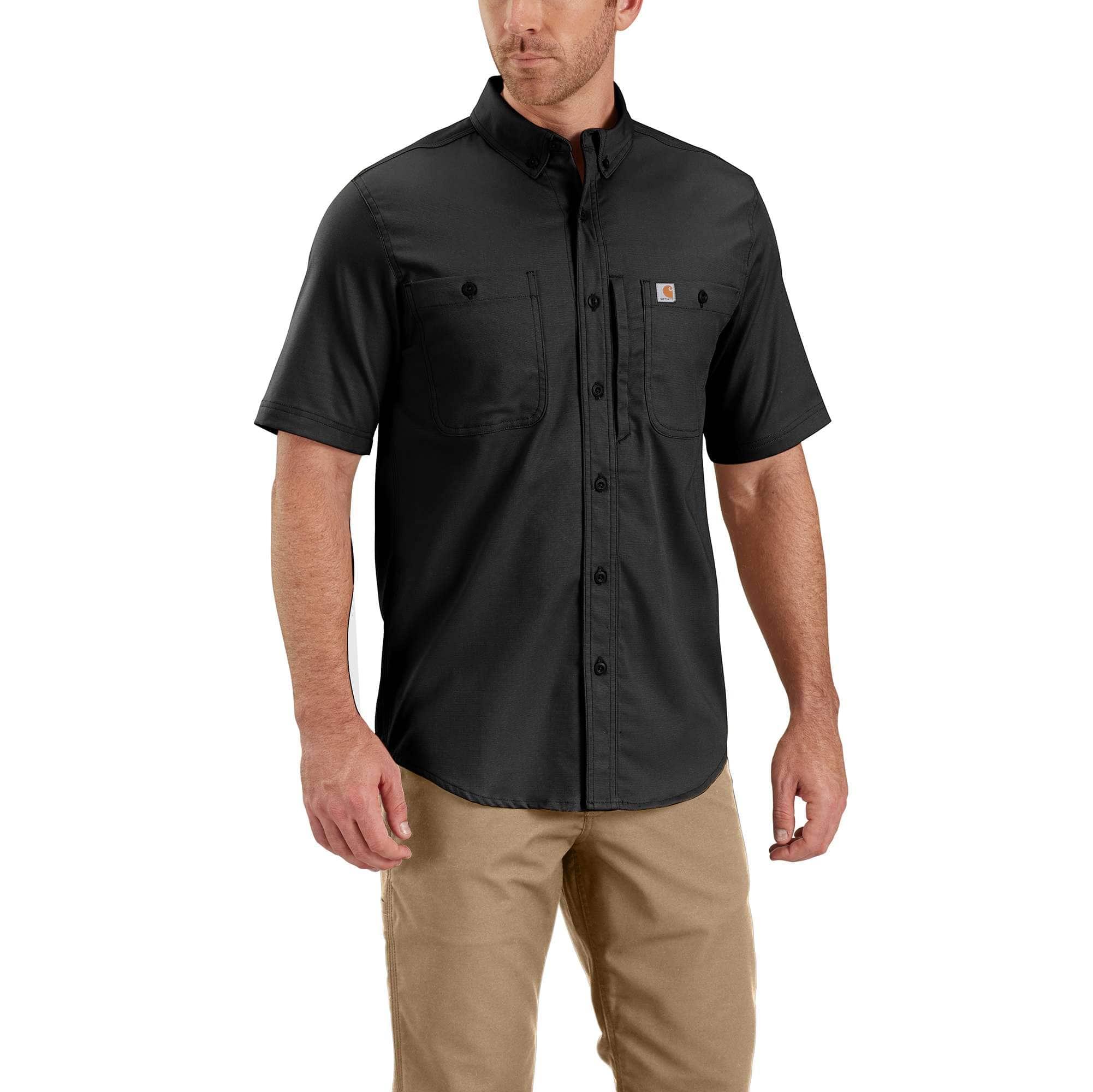 Carhartt Mens Big /& Tall Rugged Professional Long Sleeve Work Shirt Work Utility Button Down Shirt