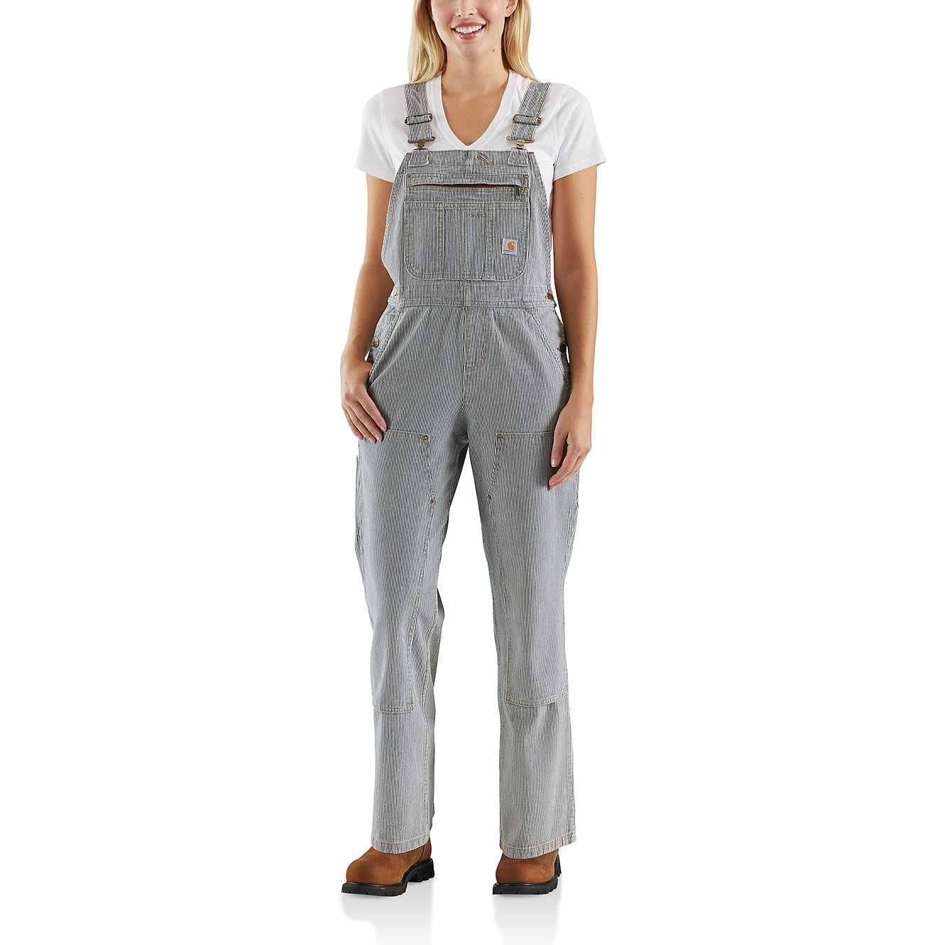 Picture of RELAXED FIT DENIM RAILROAD STRIPE BIB OVERALL