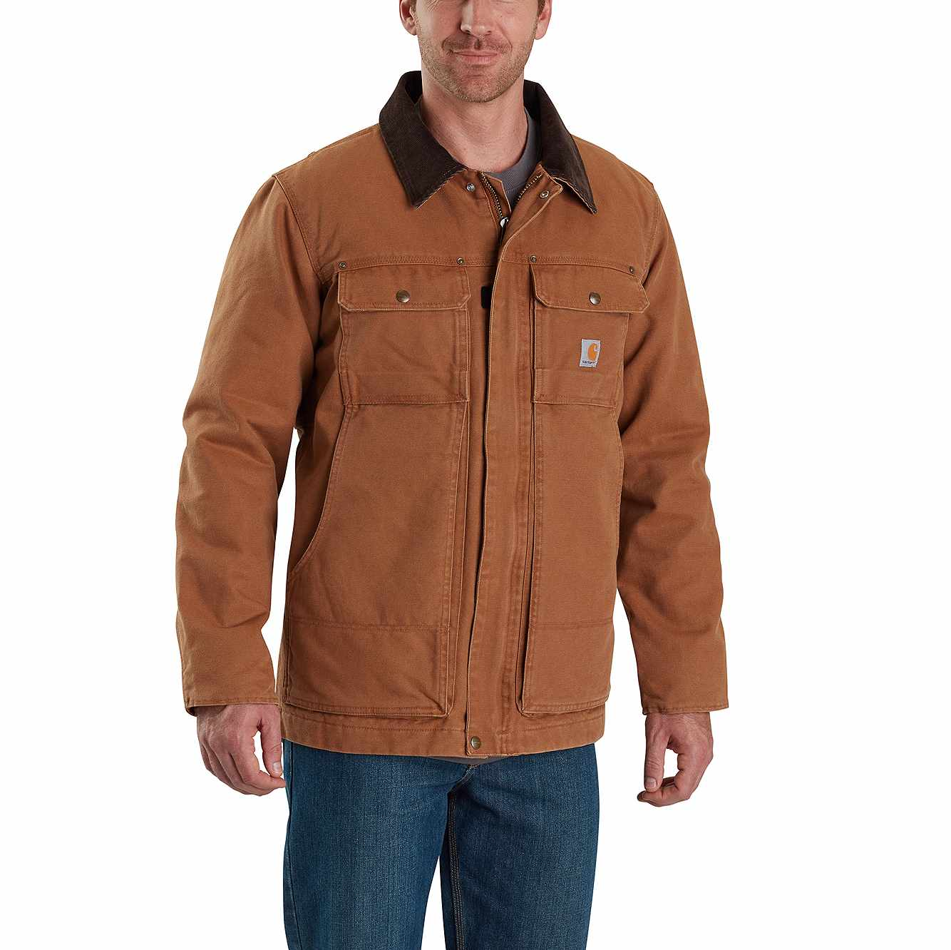 Picture of FULL SWING® RELAXED FIT WASHED DUCK INSULATED TRADITIONAL COAT