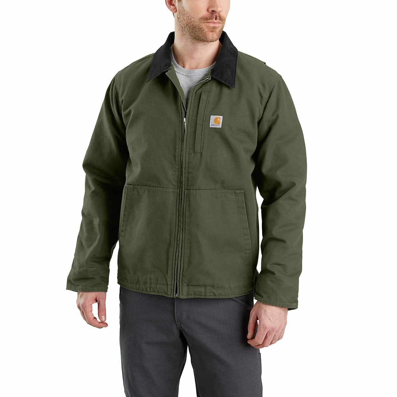 Picture of FULL SWING® LOOSE FIT WASHED DUCK FLEECE-LINED JACKET