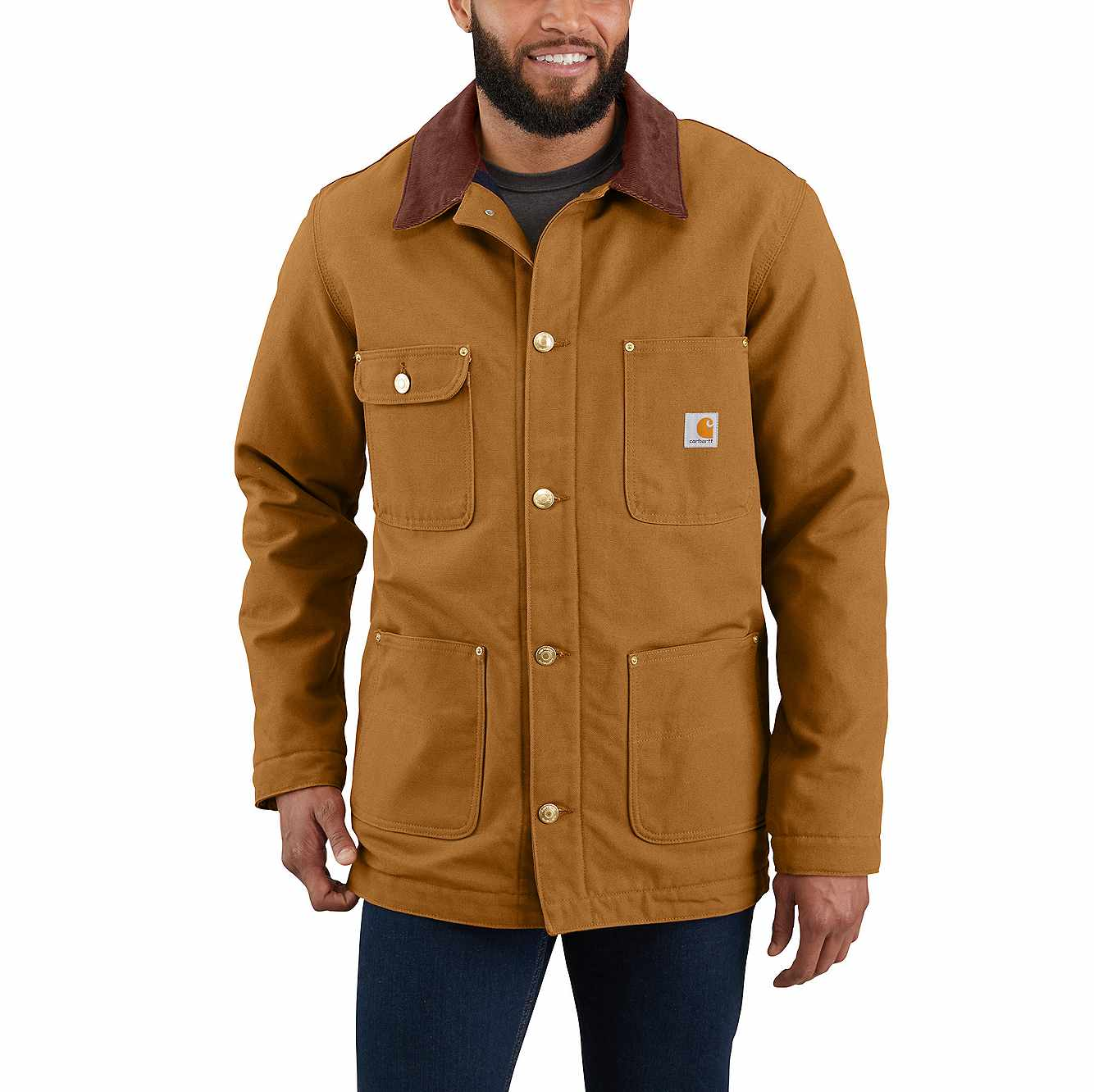 Picture of LOOSE FIT FIRM DUCK BLANKET-LINED CHORE COAT