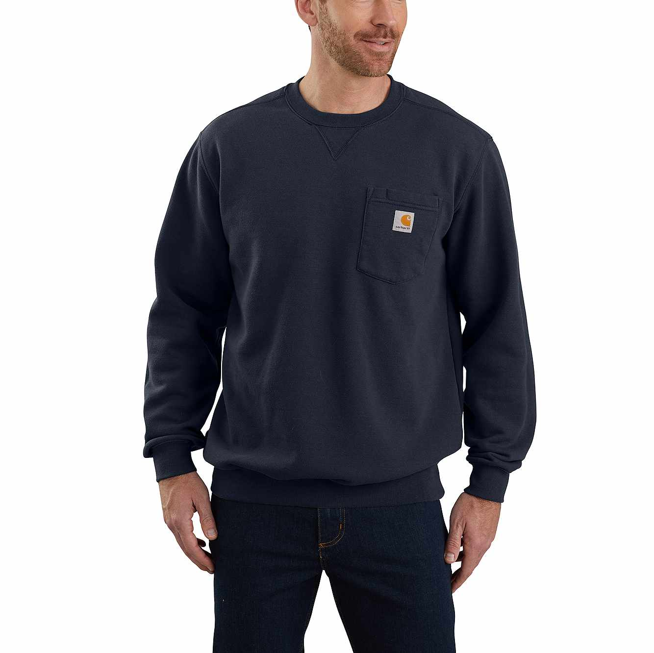 Picture of LOOSE FIT MIDWEIGHT CREWNECK POCKET SWEATSHIRT