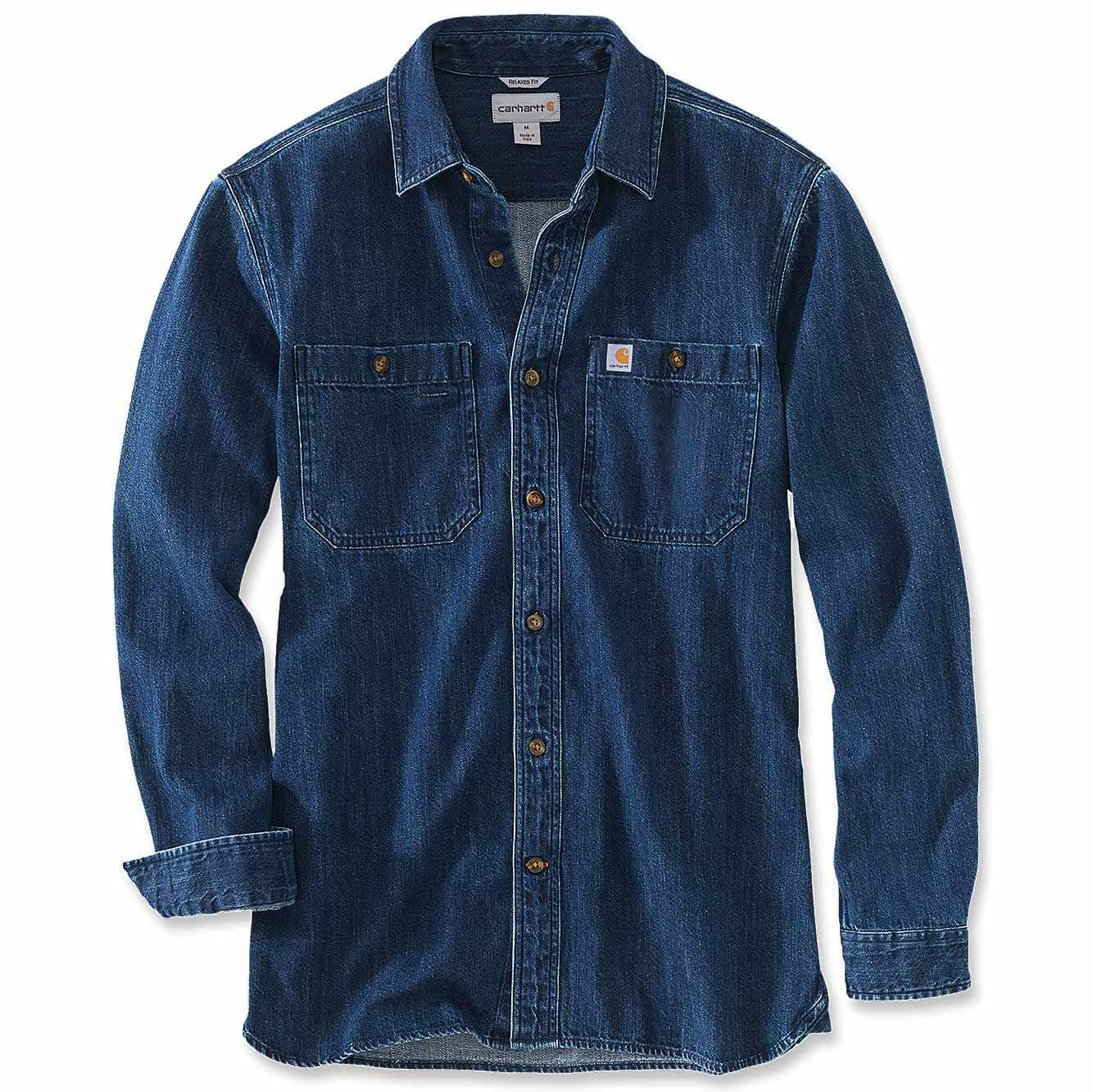 Picture of RELAXED FIT HEAVYWEIGHT DENIM LONG-SLEEVE SHIRT