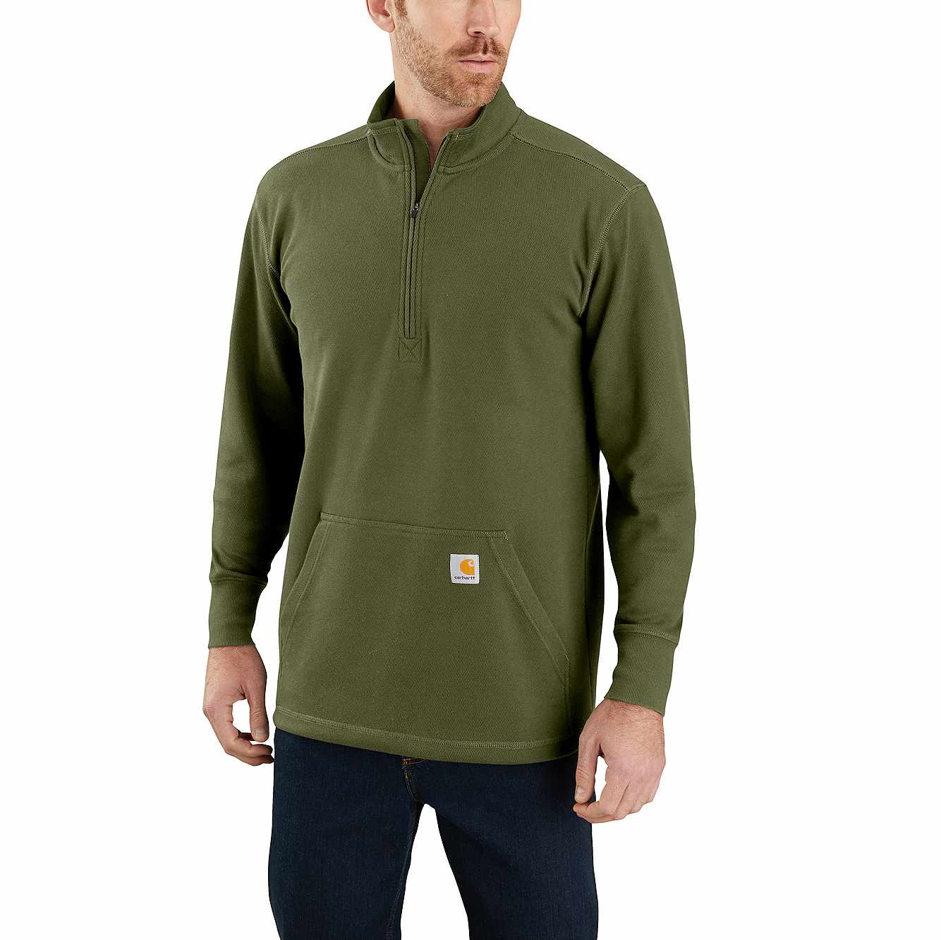 Picture of RELAXED FIT HEAVYWEIGHT LONG-SLEEVE 1/2-ZIP THERMAL SHIRT