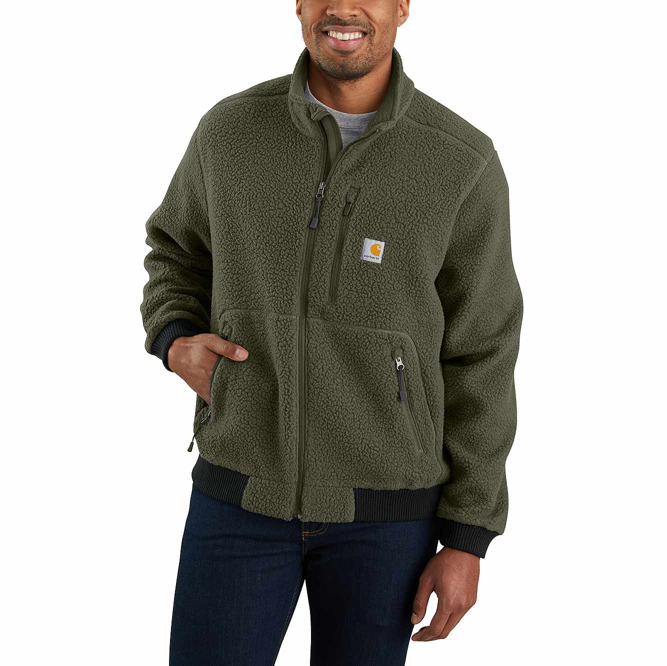 Picture of RELAXED FIT FLEECE JACKET