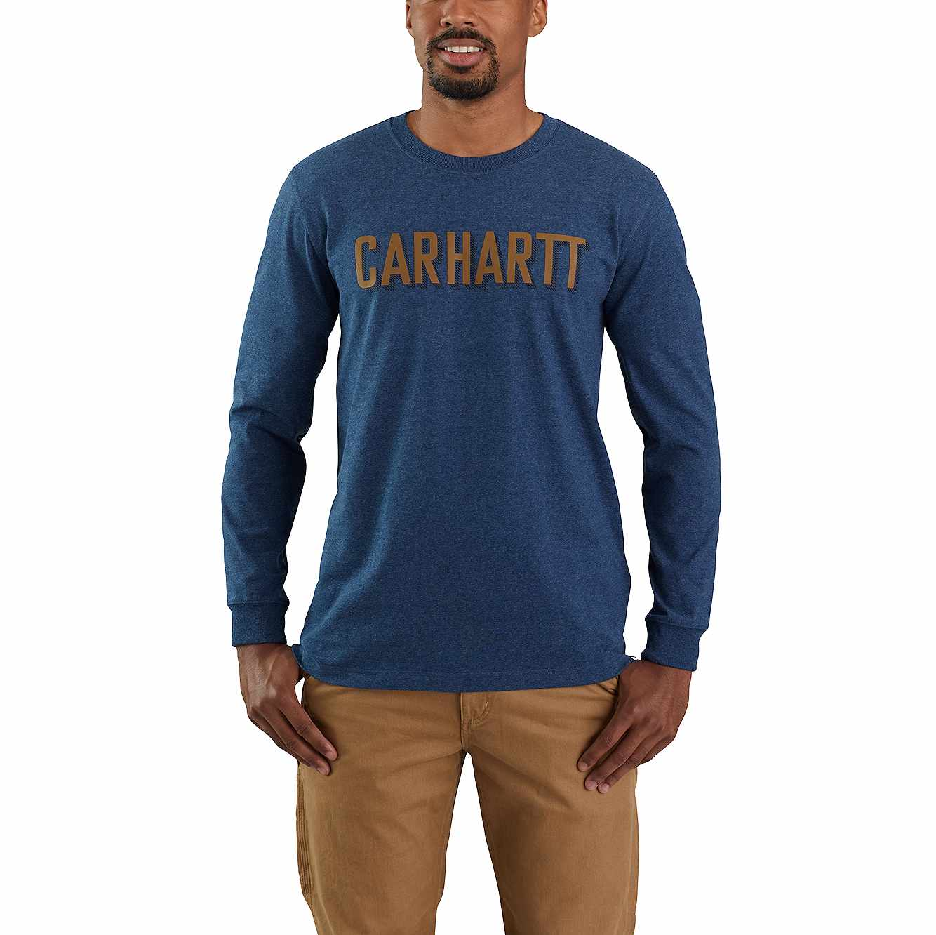 Picture of RELAXED FIT HEAVYWEIGHT LONG-SLEEVE BLOCK LOGO GRAPHIC T-SHIRT