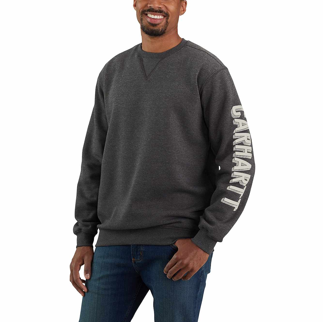 Picture of LOOSE FIT MIDWEIGHT CREWNECK SLEEVE GRAPHIC SWEATSHIRT