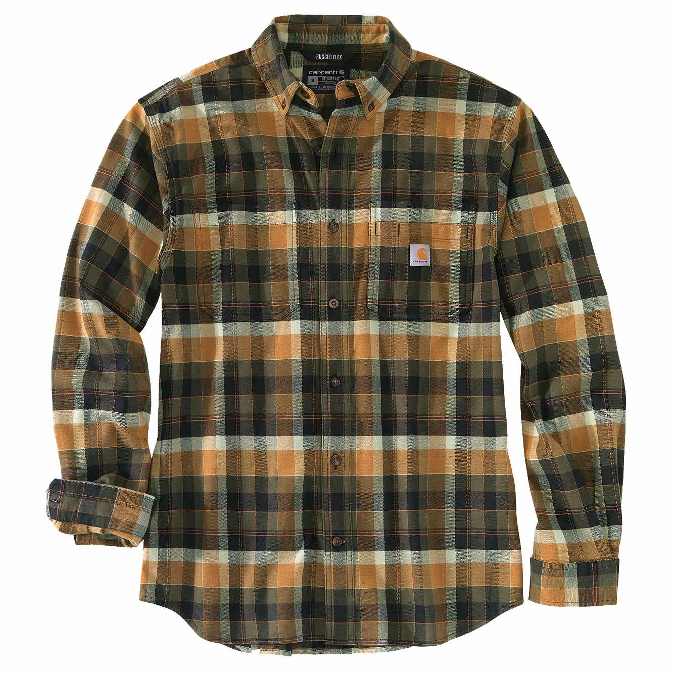 Picture of RUGGED FLEX® RELAXED FIT MIDWEIGHT FLANNEL LONG-SLEEVE SHIRT