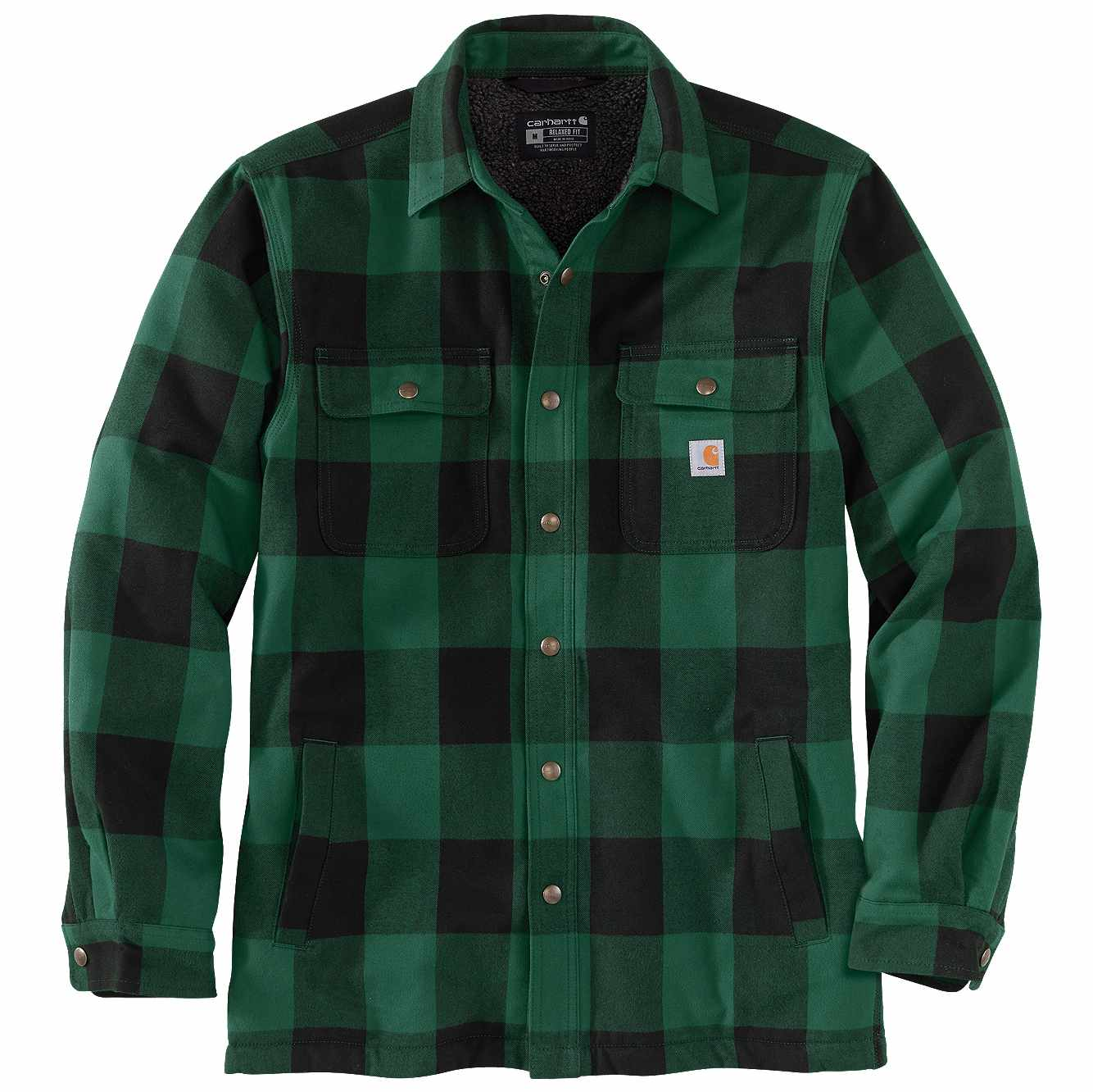 Picture of RELAXED FIT HEAVYWEIGHT FLANNEL SHERPA-LINED SHIRT JAC