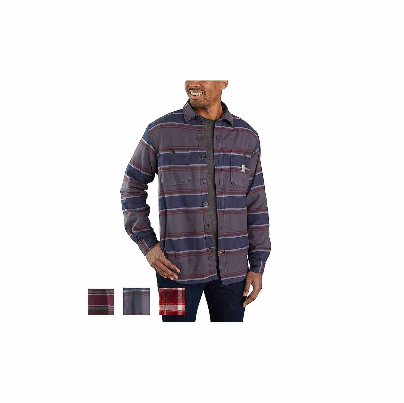 Picture of RUGGED FLEX® RELAXED FIT MIDWEIGHT FLANNEL FLEECE-LINED SHIRT