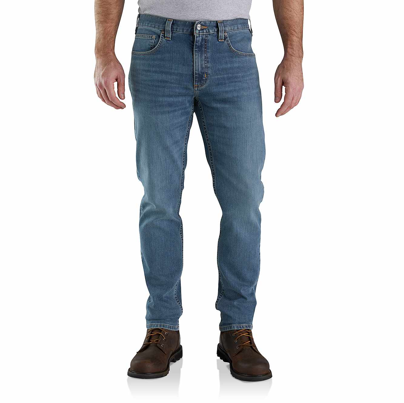 Picture of RUGGED FLEX® RELAXED FIT LOW RISE 5-POCKET TAPERED JEAN