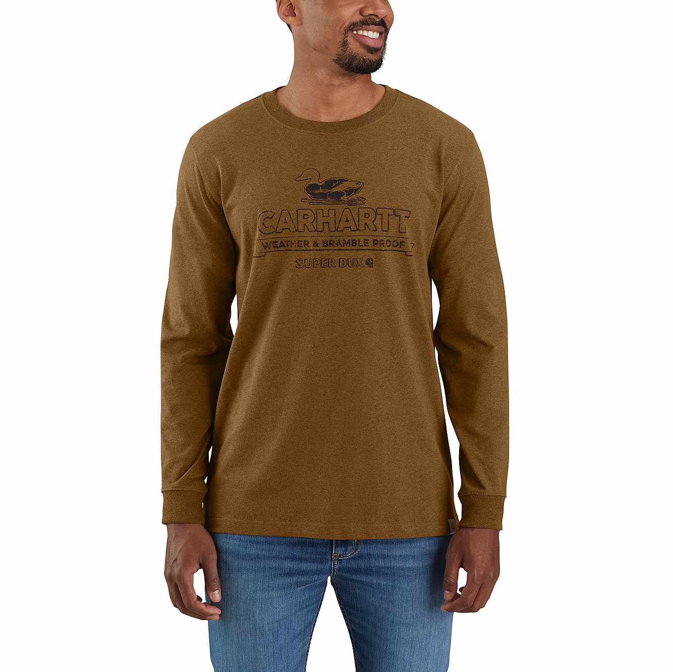 Picture of RELAXED FIT HEAVYWEIGHT LONG-SLEEVE SUPER DUX™ GRAPHIC T-SHIRT