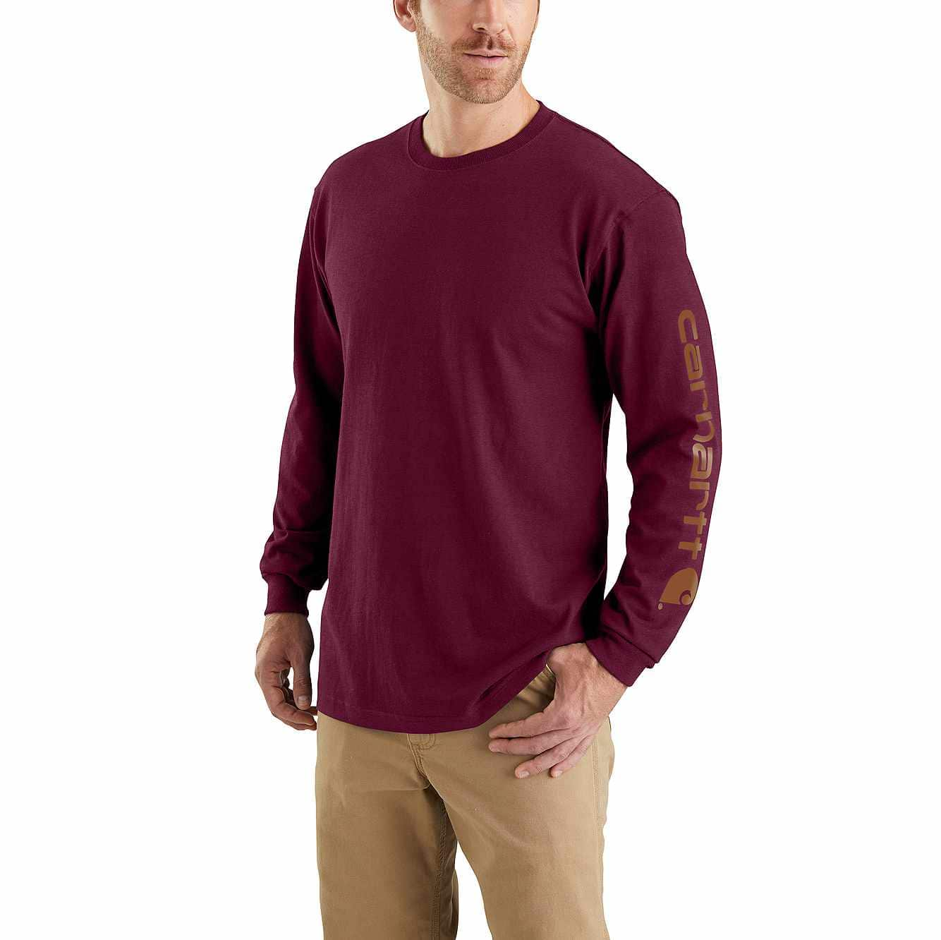 Picture of RELAXED FIT HEAVYWEIGHT LONG-SLEEVE LOGO SLEEVE GRAPHIC T-SHIRT