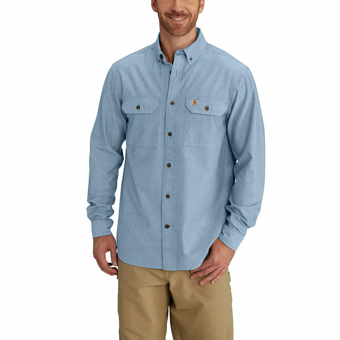 Picture of RELAXED FIT MIDWEIGHT CHAMBRAY LONG-SLEEVE SHIRT