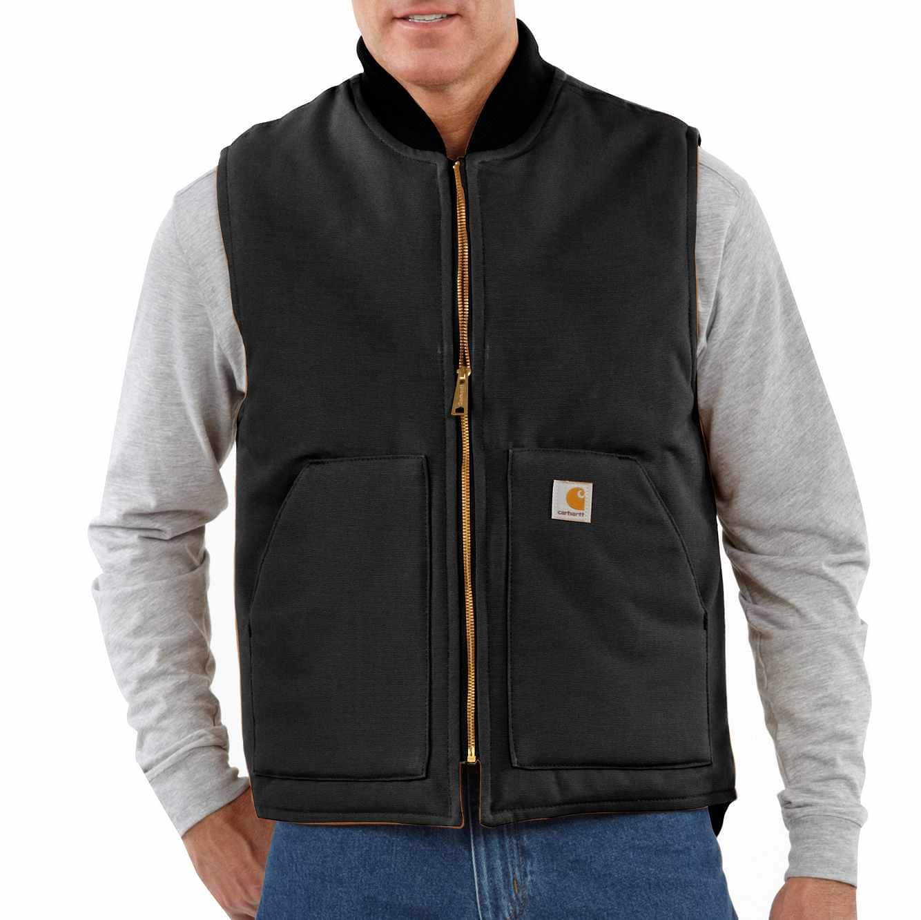 Picture of RELAXED FIT FIRM DUCK INSULATED RIB COLLAR VEST