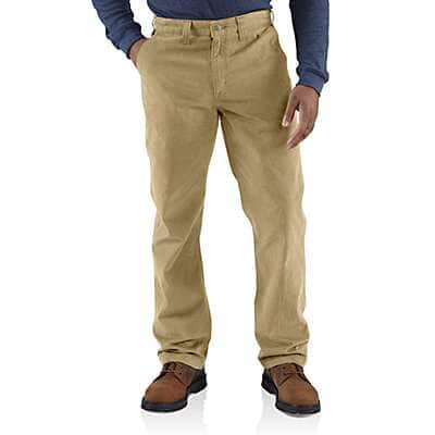 Carhartt Men's Field Khaki Rugged Work Khaki Pant - front