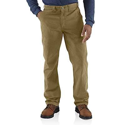 Carhartt Men's Dark Khaki Relaxed Fit Twill 5-Pocket Work Pant