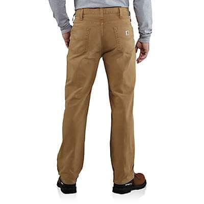 Carhartt Men's Dark Coffee Weathered Duck 5-Pocket Pant - back