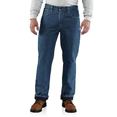 Carhartt Men's Midstone Flame-Resistant Lined Utility Denim Jean-Relaxed Fit - front
