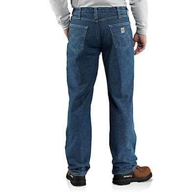 Carhartt Men's Midstone Flame-Resistant Lined Utility Denim Jean-Relaxed Fit - back