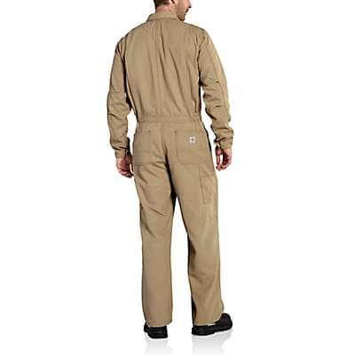Carhartt Men's Khaki Flame-Resistant Work Coverall - back