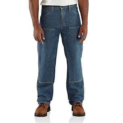 Carhartt Men's Midstone Flame-Resistant Utility Denim Double-Front Jean - Relaxed Fit - front