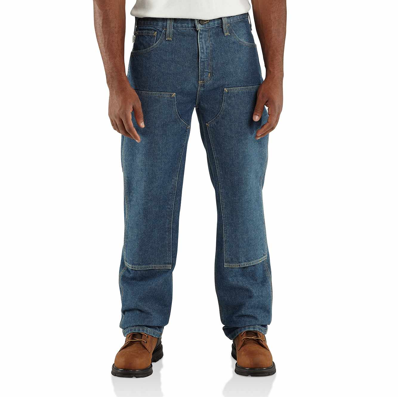 Picture of Flame-Resistant Utility Denim Double-Front Jean - Relaxed Fit in Midstone
