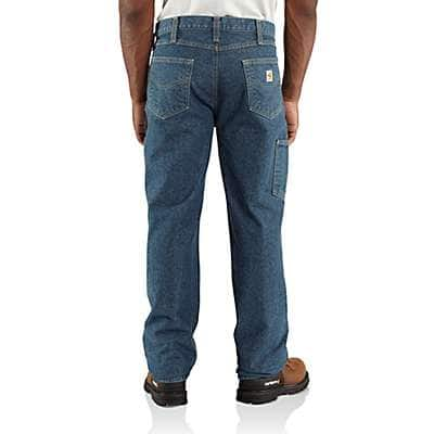 Carhartt  Midstone Flame-Resistant Utility Denim Double-Front Jean - Relaxed Fit - back