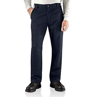 Carhartt Men's Dark Navy Flame-Resistant Work Pant - Relaxed Fit - front