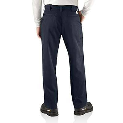 Carhartt Men's Dark Navy Flame-Resistant Work Pant - Relaxed Fit - back