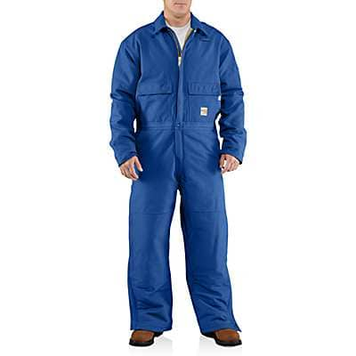 Carhartt Men's Royal Flame-Resistant Duck Coverall/Quilt-Lined - front