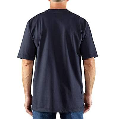 Carhartt Men's Dark Navy Flame-Resistant Carhartt Force® Short-Sleeve T-Shirt - back