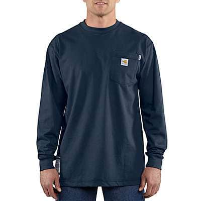 378b0b16b83 Carhartt Men s Light Gray Flame-Resistant Carhartt Force® Cotton Long-Sleeve  T- ...