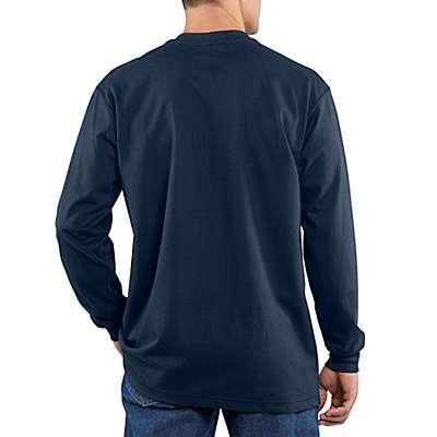 Carhartt  Light Gray Flame-Resistant Carhartt Force® Cotton Long-Sleeve T-Shirt - back