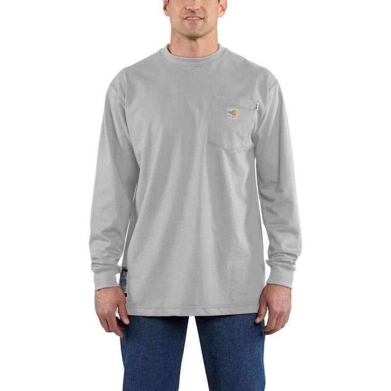 Carhartt  Light Gray Flame-Resistant Force Cotton Long-Sleeve T-Shirt