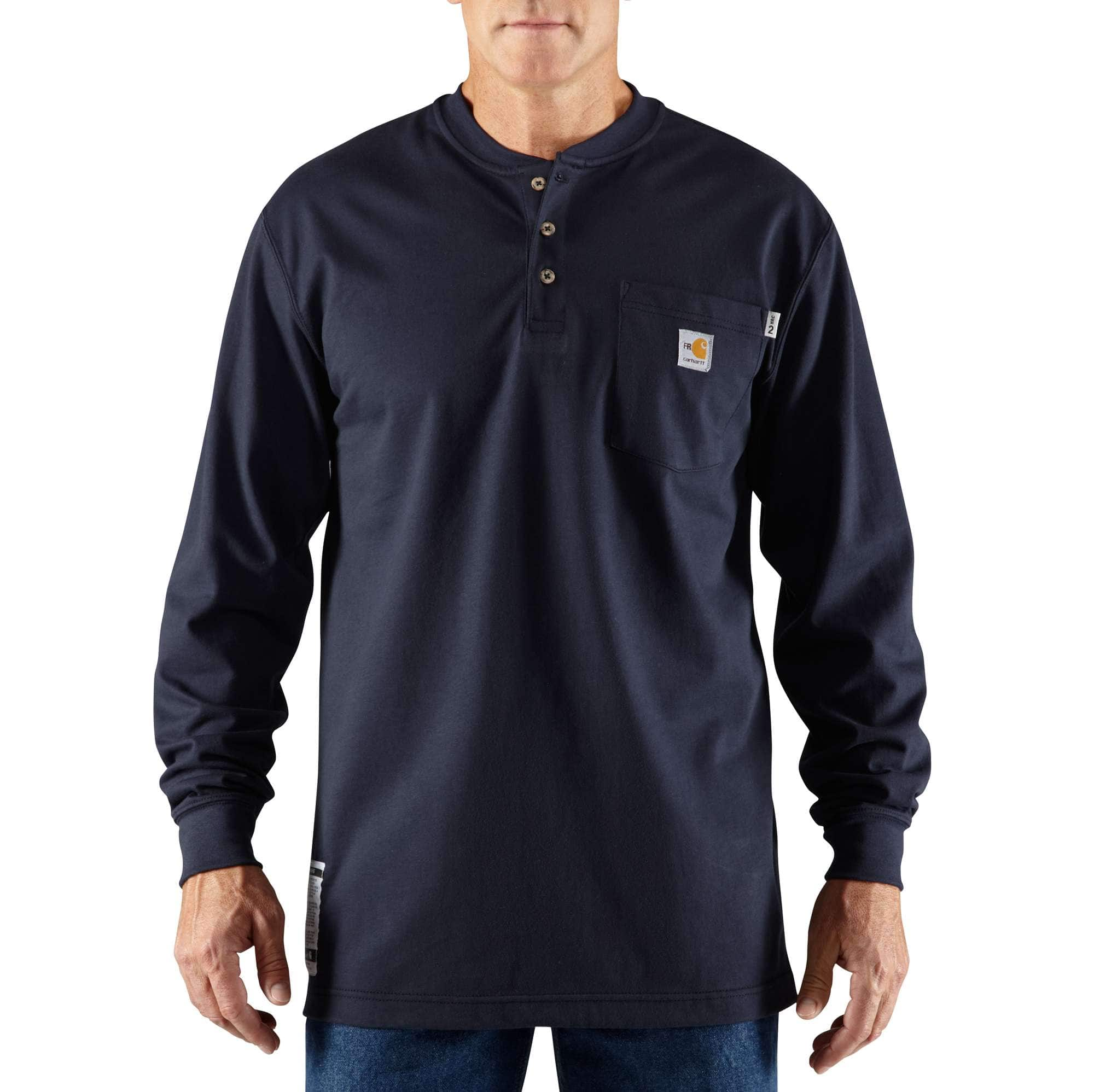 e183670f7635 Men s Flame-Resistant Carhartt Force® Cotton Long-Sleeve Henley ...