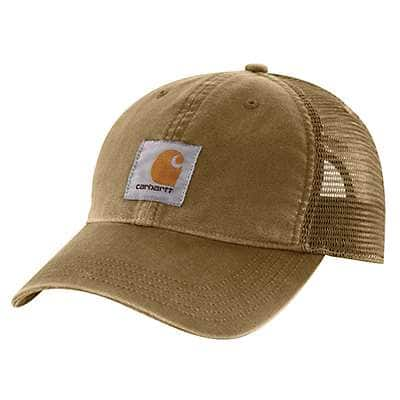 Carhartt Men's Burnt Olive Buffalo Cap - front