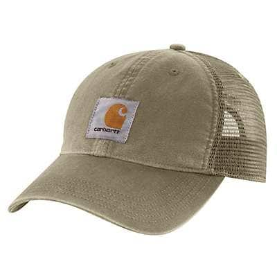 Carhartt Men's Burnt Olive Buffalo Cap - front
