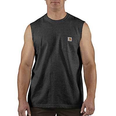 Carhartt  Black Workwear Pocket Sleeveless T-Shirt - front