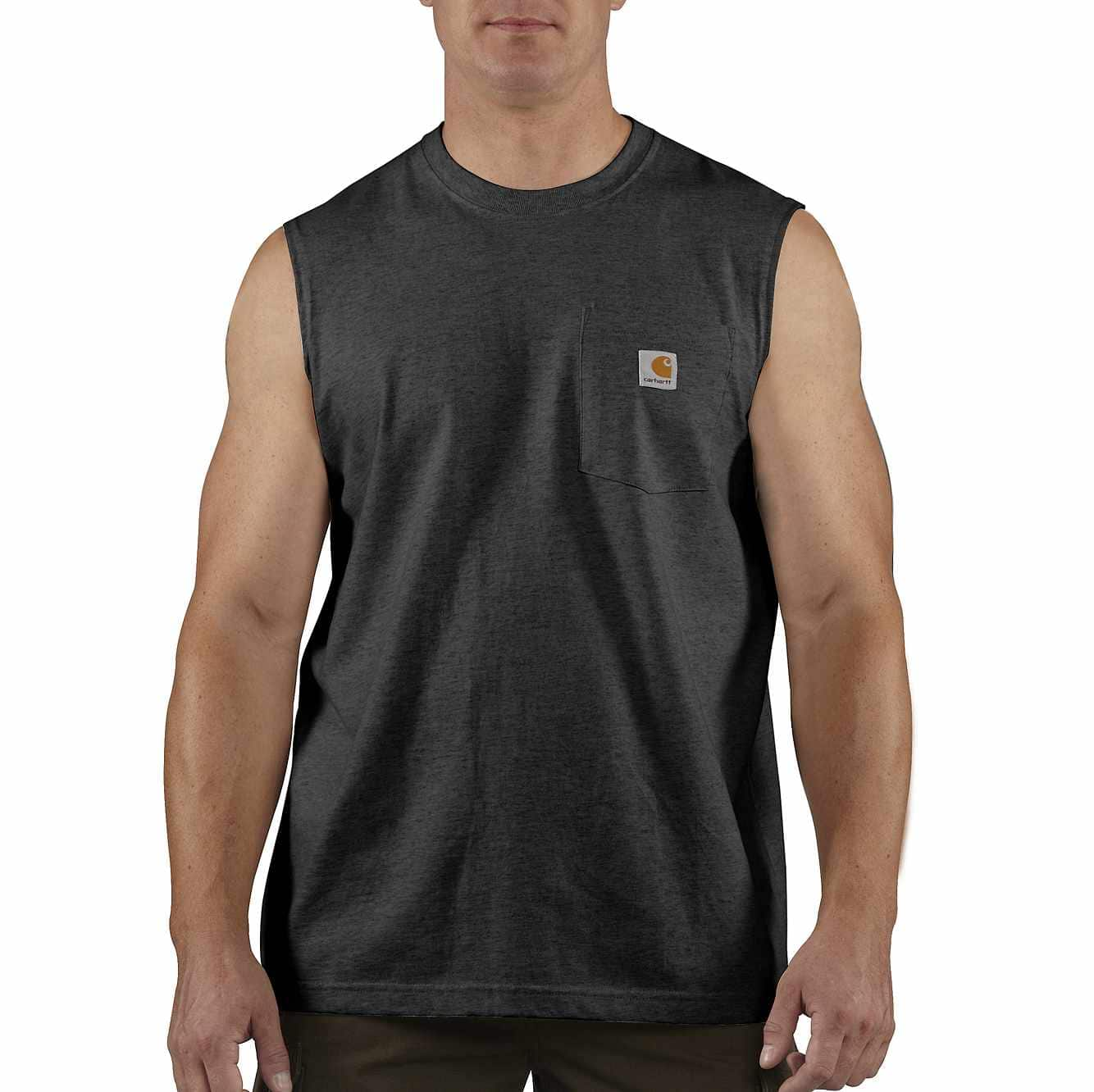 Picture of Workwear Pocket Sleeveless T-Shirt in Black