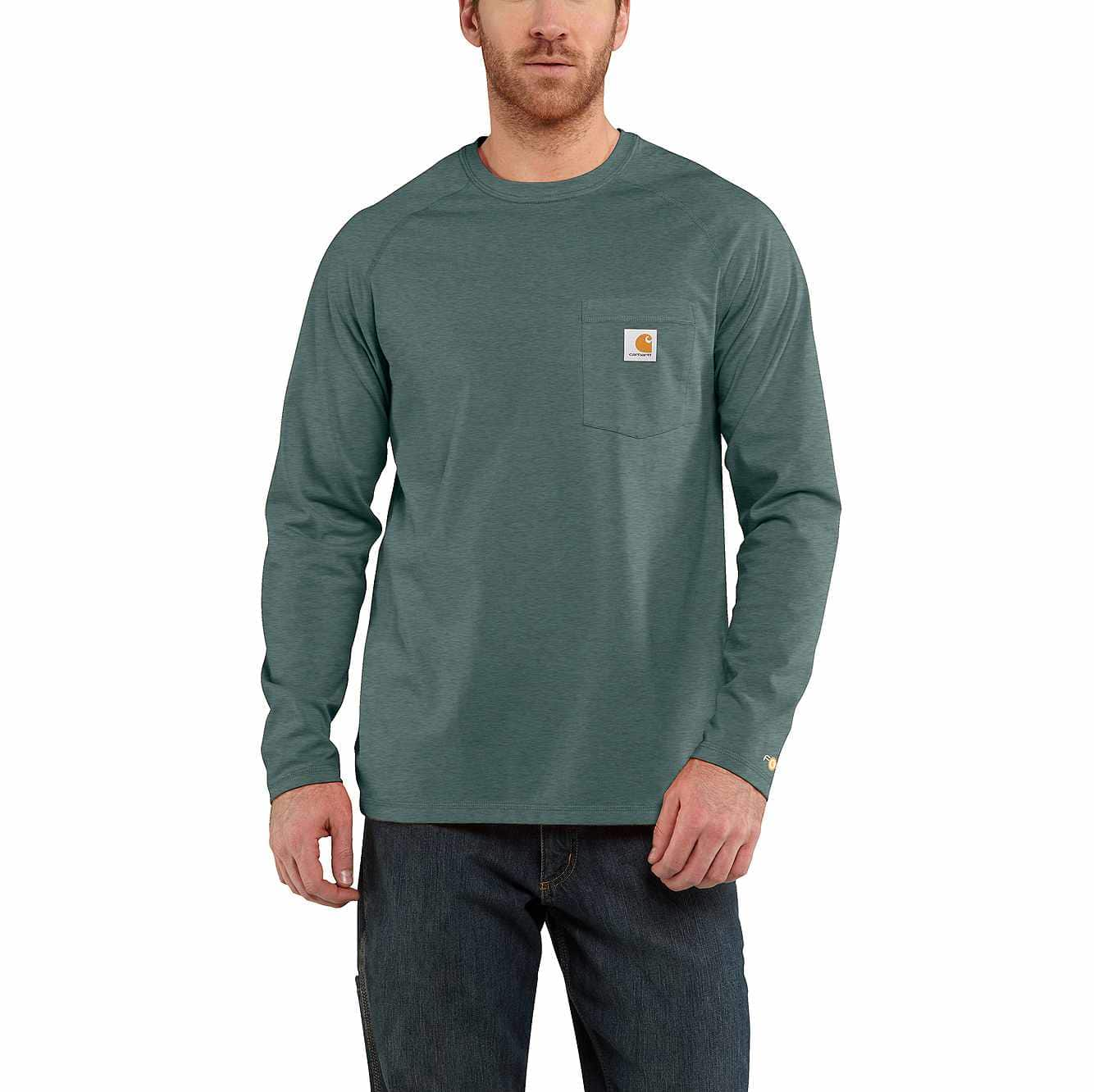 100% top quality the sale of shoes various design Carhartt Force® Cotton Delmont Long-Sleeve T-Shirt