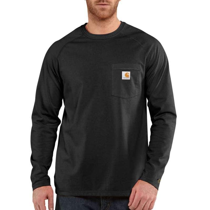Carhartt  Black Force Relaxed Fit Midweight Long-Sleeve Pocket T-Shirt