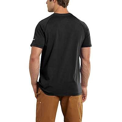 Carhartt Men's Dark Slate Heather Carhartt Force® Cotton Delmont Short-Sleeve T-Shirt - back
