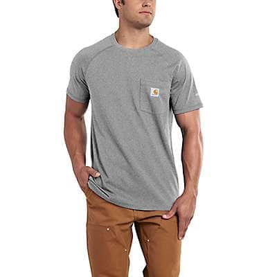 Carhartt  Carbon Heather Carhartt Force® Cotton Delmont Short-Sleeve T-Shirt - front