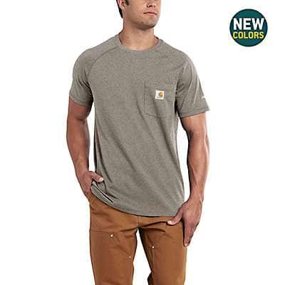 Carhartt Men's Carbon Heather Carhartt Force® Cotton Delmont Short-Sleeve T-Shirt - back