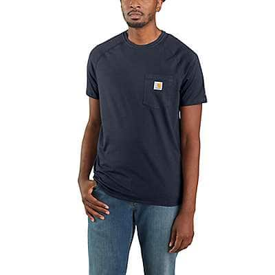 Carhartt Men's Carbon Heather Carhartt Force® Cotton Delmont Short-Sleeve T-Shirt - front