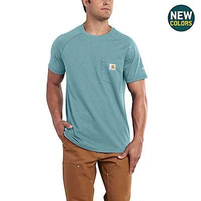 Carhartt Men's Bandana Red Heather Carhartt Force® Cotton Delmont Short-Sleeve T-Shirt - back