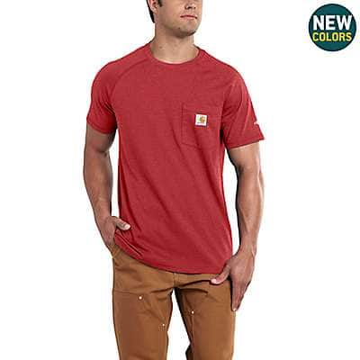Carhartt Men's Bandana Red Heather Carhartt Force® Cotton Delmont Short-Sleeve T-Shirt - front
